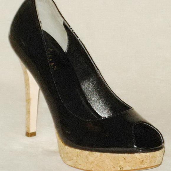 c6a062a89bf Cole Haan Mariela Peep Toe PUMP Black Patent